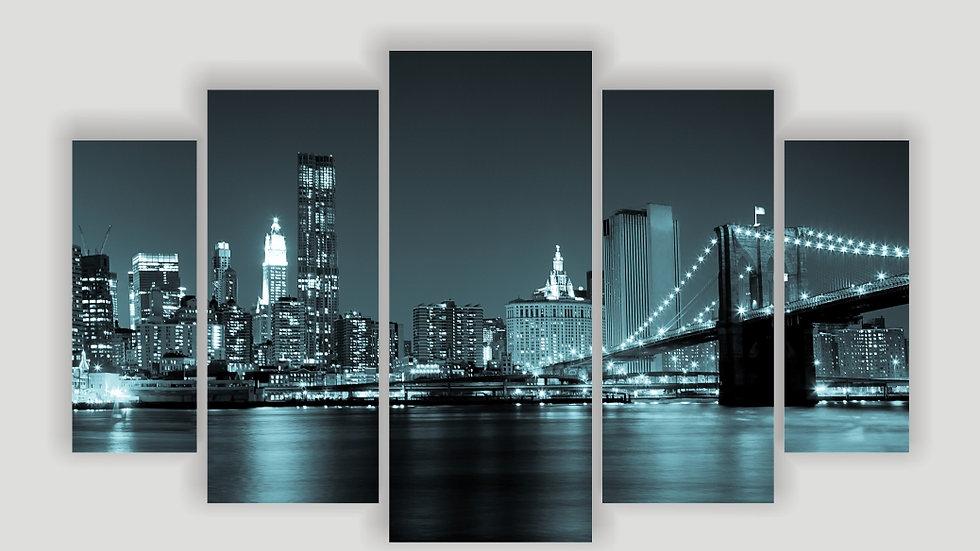 Модульная картина «Ночной город»
