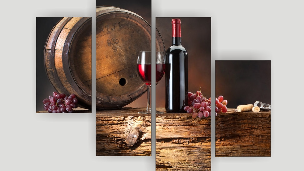 Модульная картина «Вино»