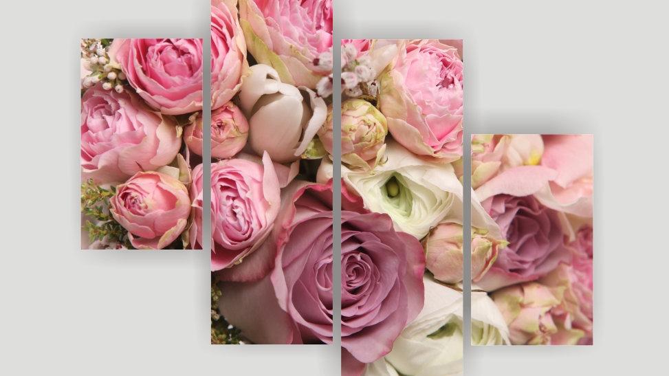 Модульная картина «Оттенки розового»