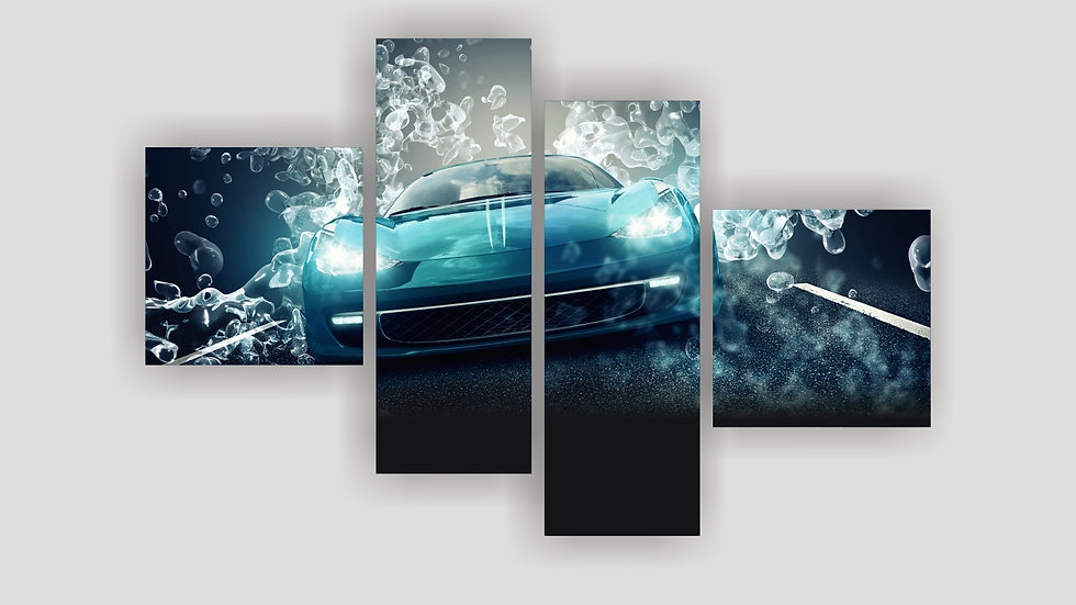 Модульная картина «3д авто»