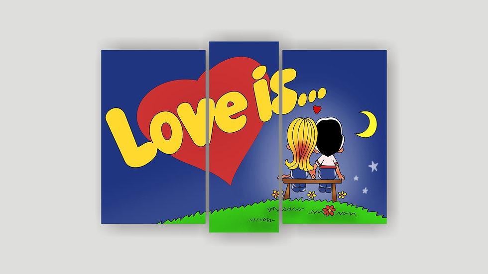 Модульная картина «Love is»