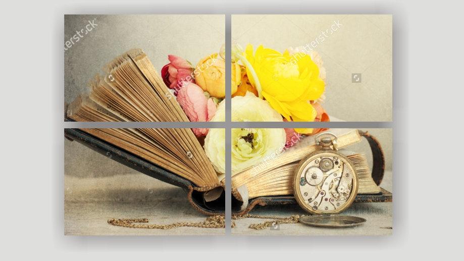 Модульная картина «Винтаж. Книга»