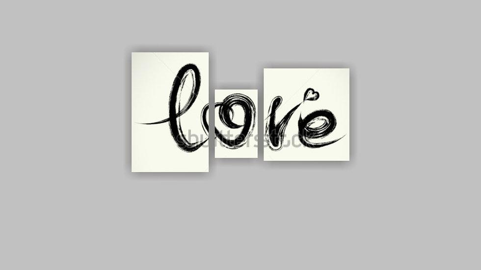Модульная картина «Love»