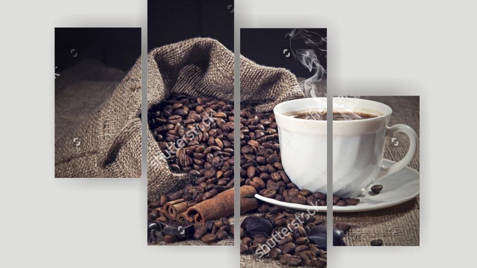 Модульная картина «Аромат кофе»