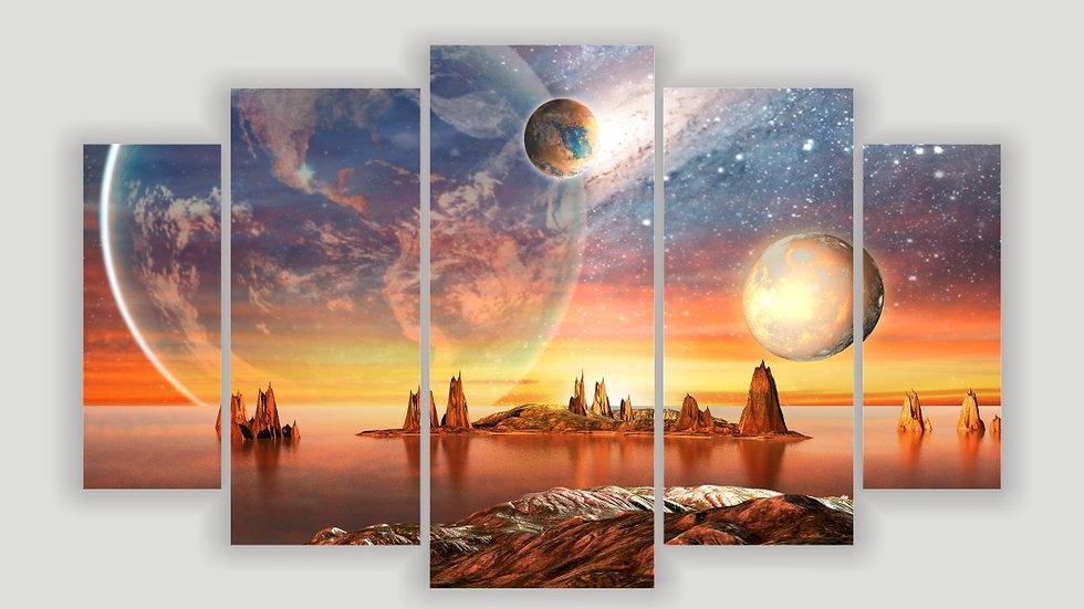 Модульная картина «Фантастический мир»