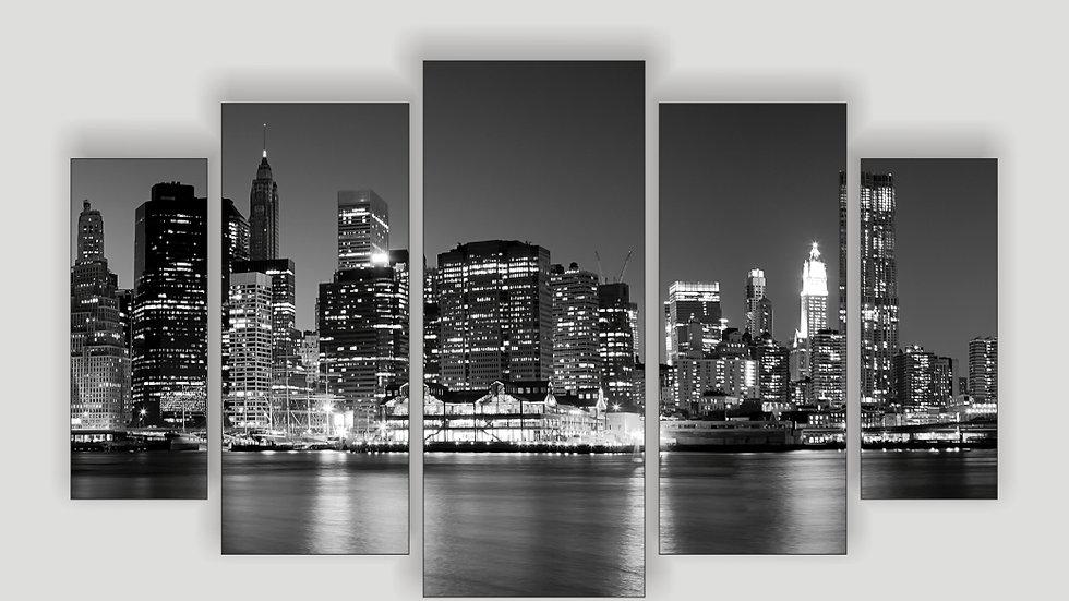 Модульная картина «Ночной город. Огни»