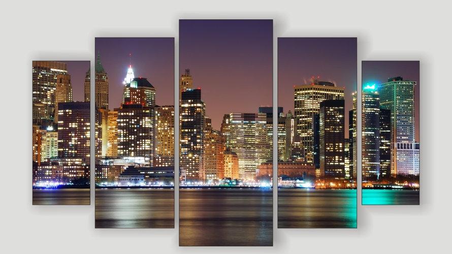 Модульная картина «Огни города»