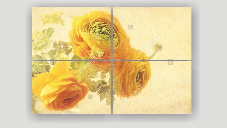 Модульная картина «Желтые Цветы »
