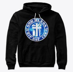 God Bless Hip Hop premium hoodie (Front)