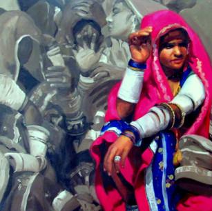 Gossip_Oil on Canvas_ 24x30 inches.JPG