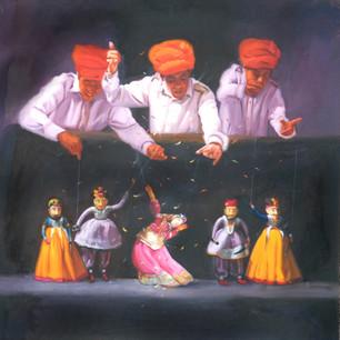 Jinal Gada_Illusion of Life_Oil on Canva