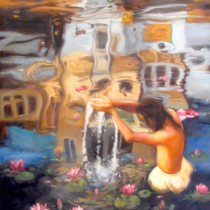 Fist of Hope, Power & Light_Oil in Canva
