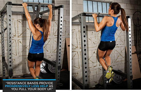 resistance pull ups
