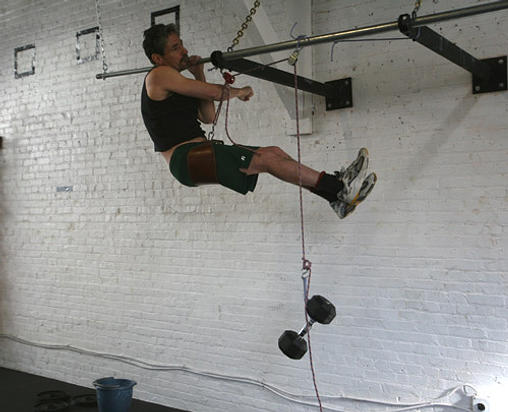 pulley pull ups