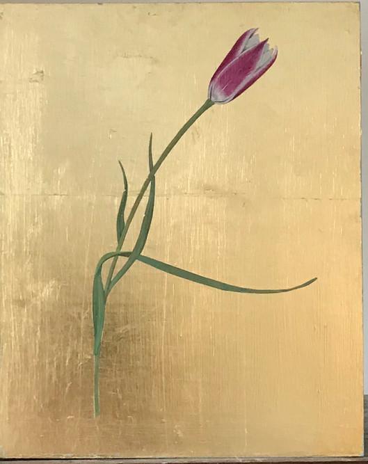 Lady tulip on gold panel.jpg