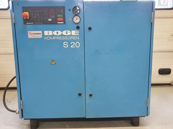 Boge S20 Schroefcompressor 15 kW 2,420 l/min bouwjaar 1996