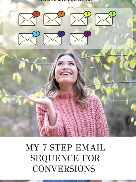 My 7 Step Email Sequence for Conversions