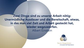 Innovationstraining, Rainer Siegenthaler, St.Gallen, Zürich