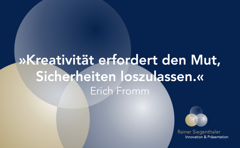 Innovationstraining, Rainer Siegenthaler, St.Gallen, Zürich, Schweiz