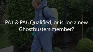 PA1 and PA6 Qualified, or is Joe a new Ghostbusters member?