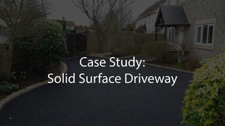 Solid Surface Driveway: Case Study