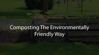 Composting the Environmentally Friendly Way