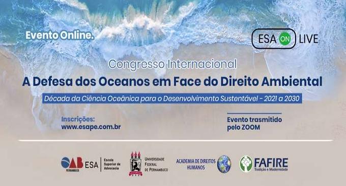 Edital de Submissão. Congresso Internacional: A Defesa dos Oceanos em Face do Direito Ambiental