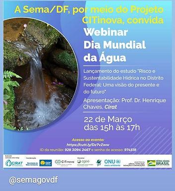 Webinar Dia Mundial da Água