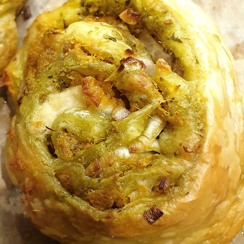 PESTO PUFF PASTY PARCELS