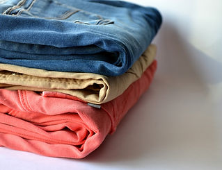 La ropa doblada