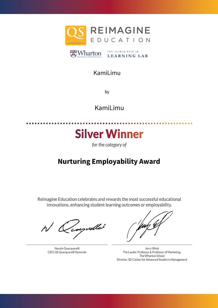 Nurturing Employability Award silver winner KamiLimu