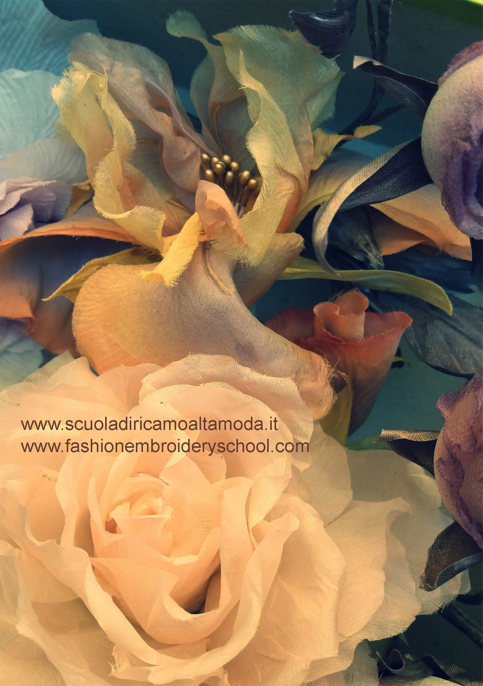 silk flowers course in Rome