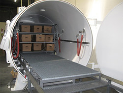 Freeze drying chamber
