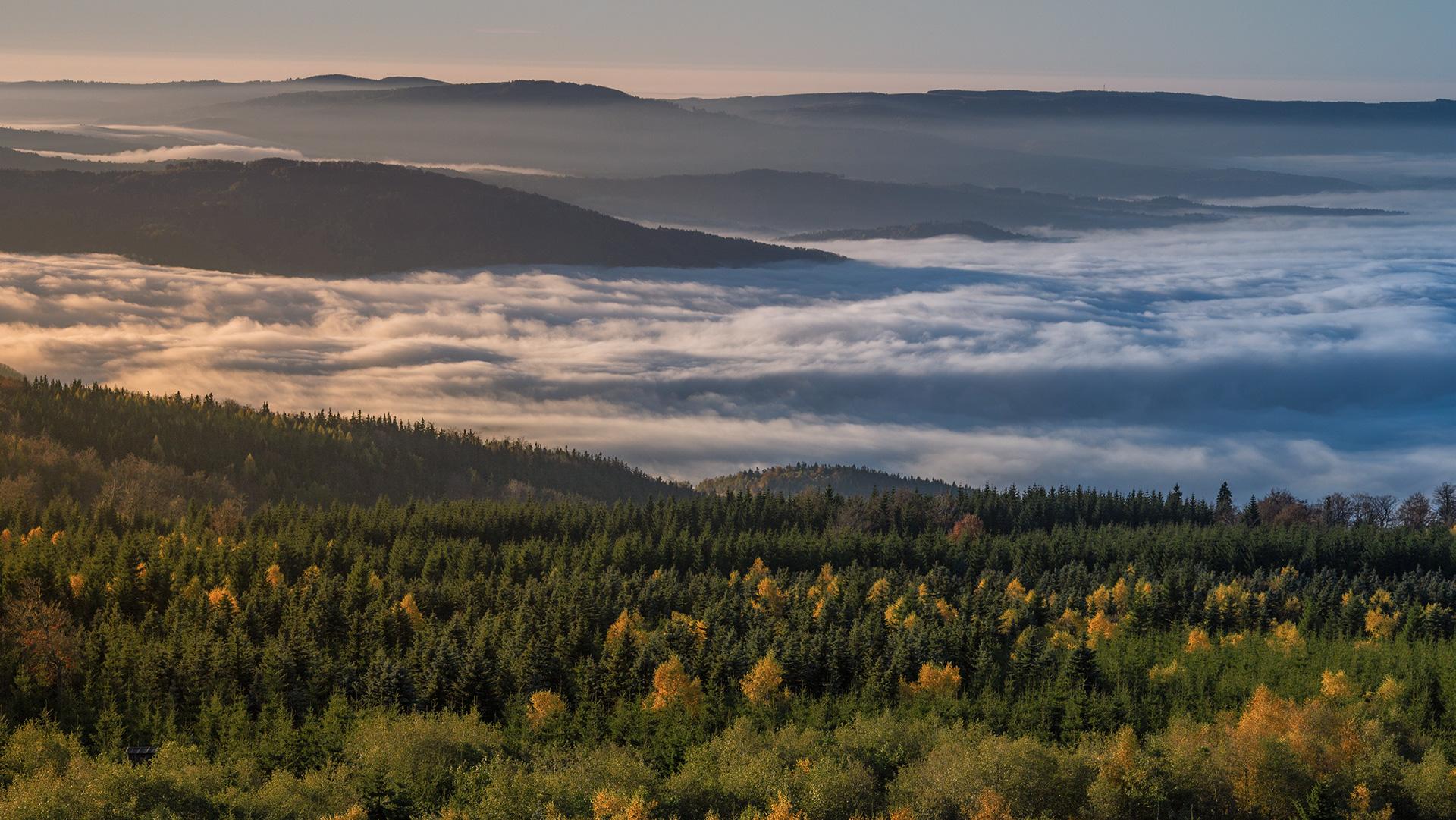 Krušné hory, podzim_