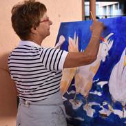 Les Décades de la peinture live-painting