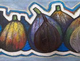 Thierry Nogue - Figs, 13,5x46x9 cm, Acrylique et collage sur bois