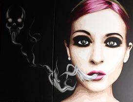 Lady Caviar | La Dame de Compagnie | Acrylique sur toile 80x60 et 80x40cm
