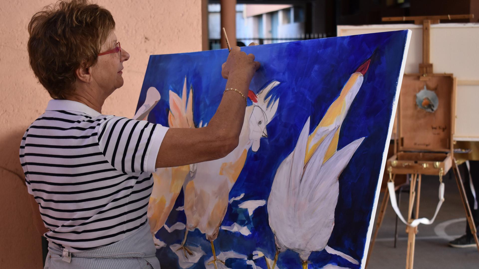 Concours de live-painting Anne Duboisset