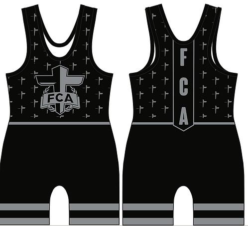 FCA All Black Singlet