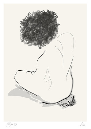 Kneeling Nude by Janet Fryer