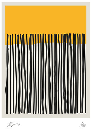 Yellow with black stripes by Janet Fryer