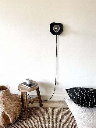 Lakho Abstract Teak wall lamp
