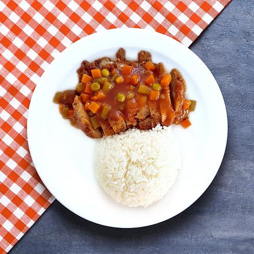 Hainanese Chicken Chop Rice