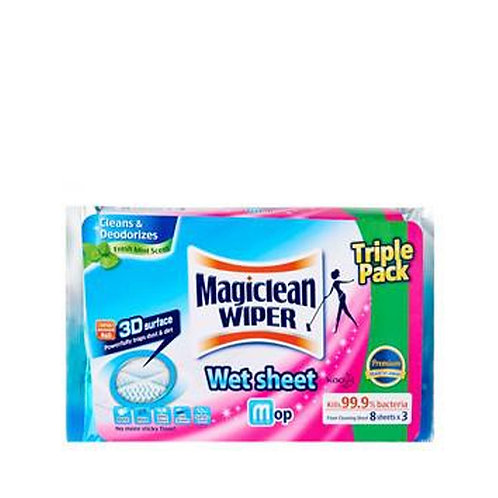 Magiclean Wiper Dry Sheets V.Pack	3x20's