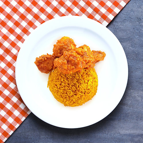 Yellow Rice with Rendang Chicken