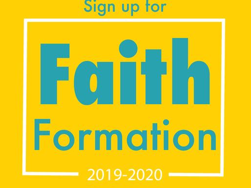 Faith Formation Begins (Sept. 25)