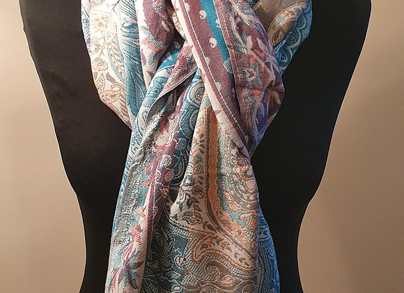 Multicoloured Design Pashmina
