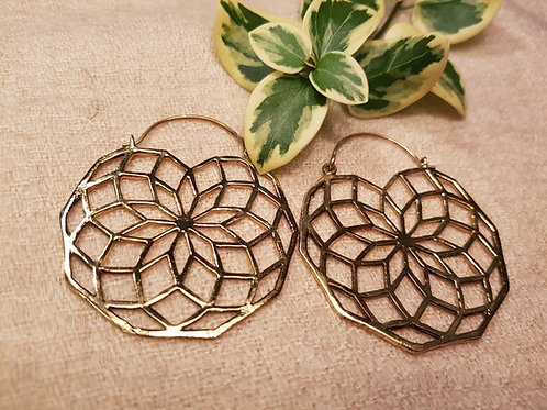 Lotus Mandala Earrings(Light Weight)
