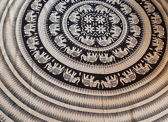 Elephant Mandala (Off White Black)