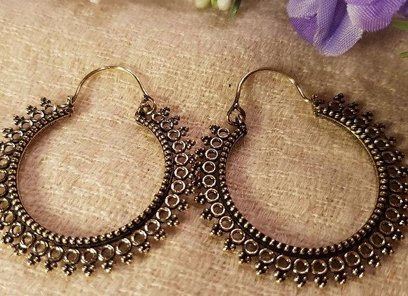 Bali Hoop Earring (Brass)